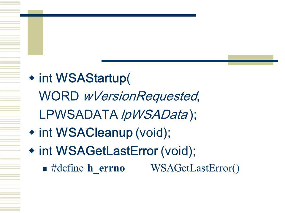 Winsock programming   TCP/IP UDP TCP  Winsock #include