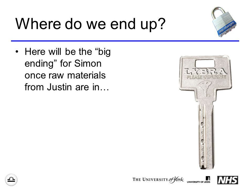 Where do we end up Here will be the big ending for Simon once raw materials from Justin are in…