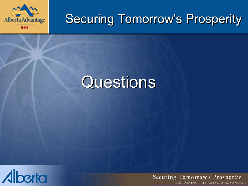 Securing Tomorrow's Prosperity Questions