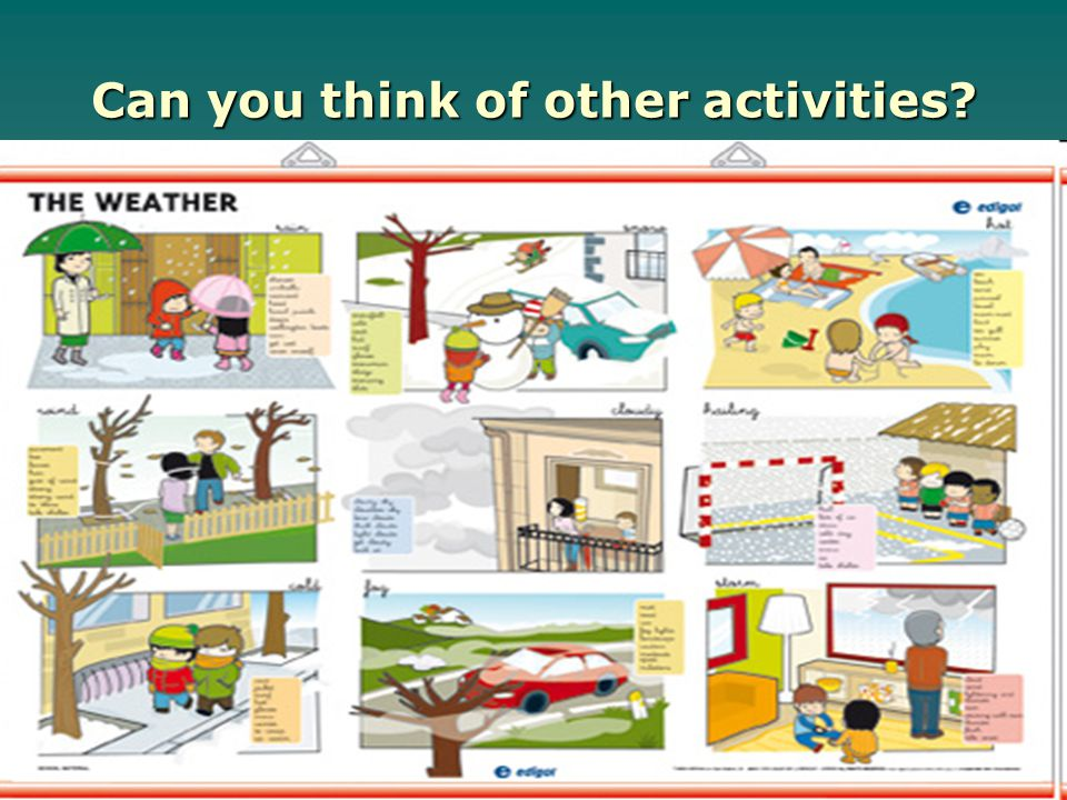 Can you think of other activities