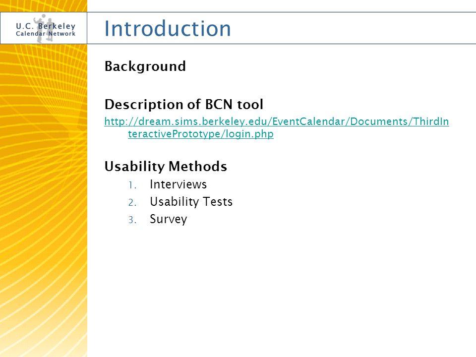 U C Berkeley Calendar Network Usability Evaluation Nadine Fiebrich