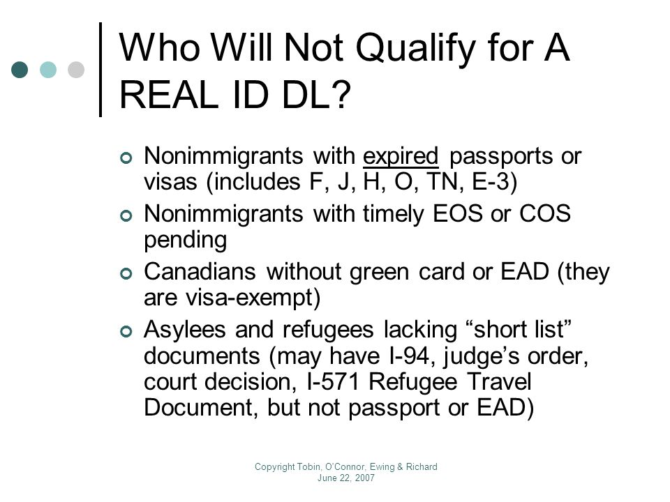 The REAL ID Act for International Academic Offices Presented