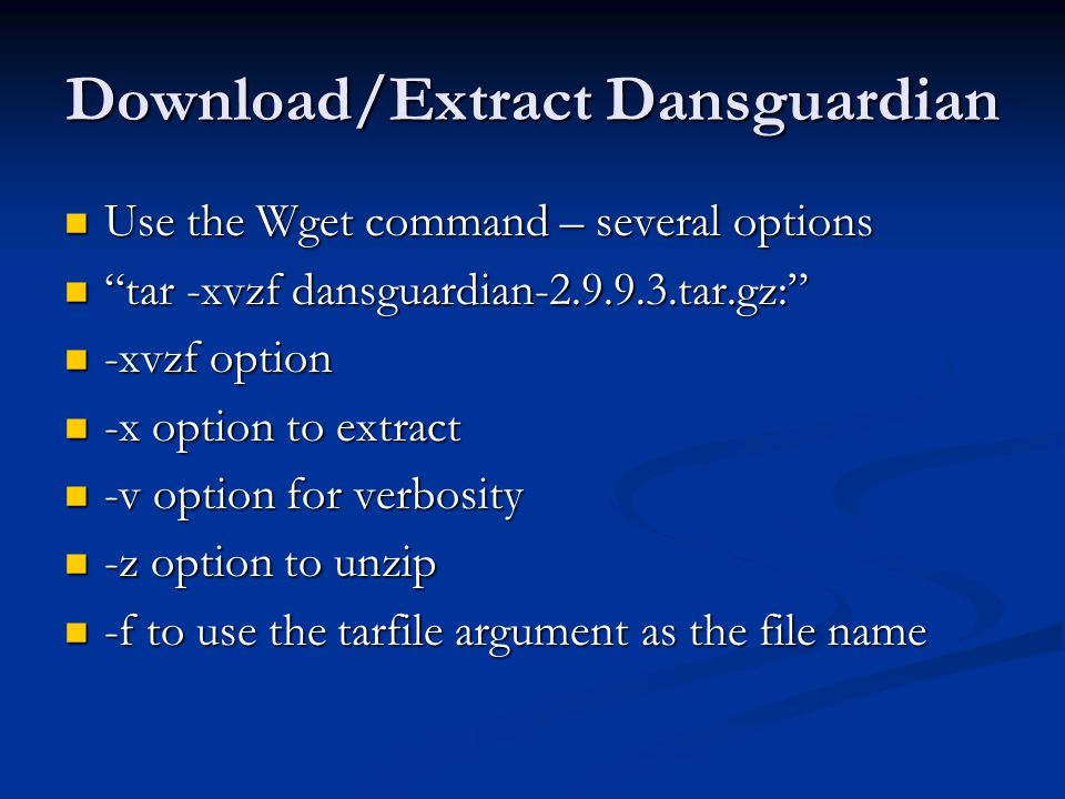 Danguardian and Squid Proxy Installation and Configuration