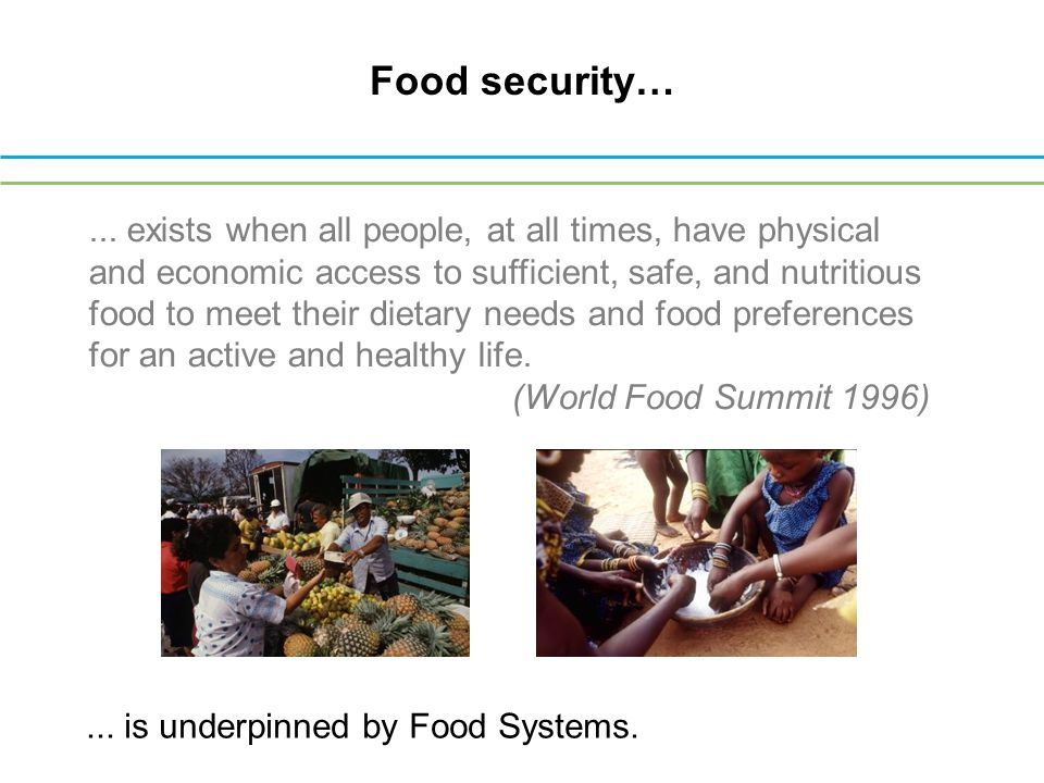 Food security…...