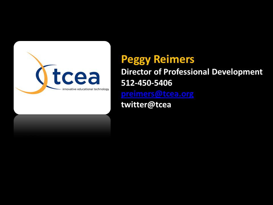 Peggy Reimers Director of Professional Development