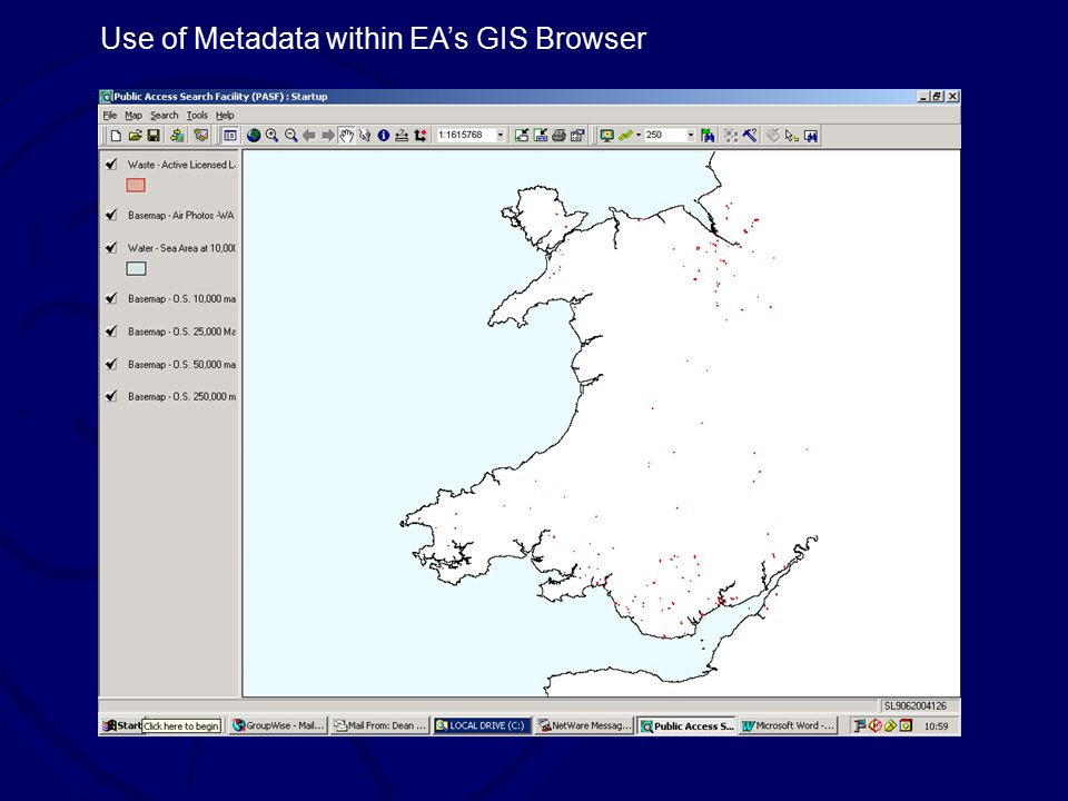 Use of Metadata within EA's GIS Browser
