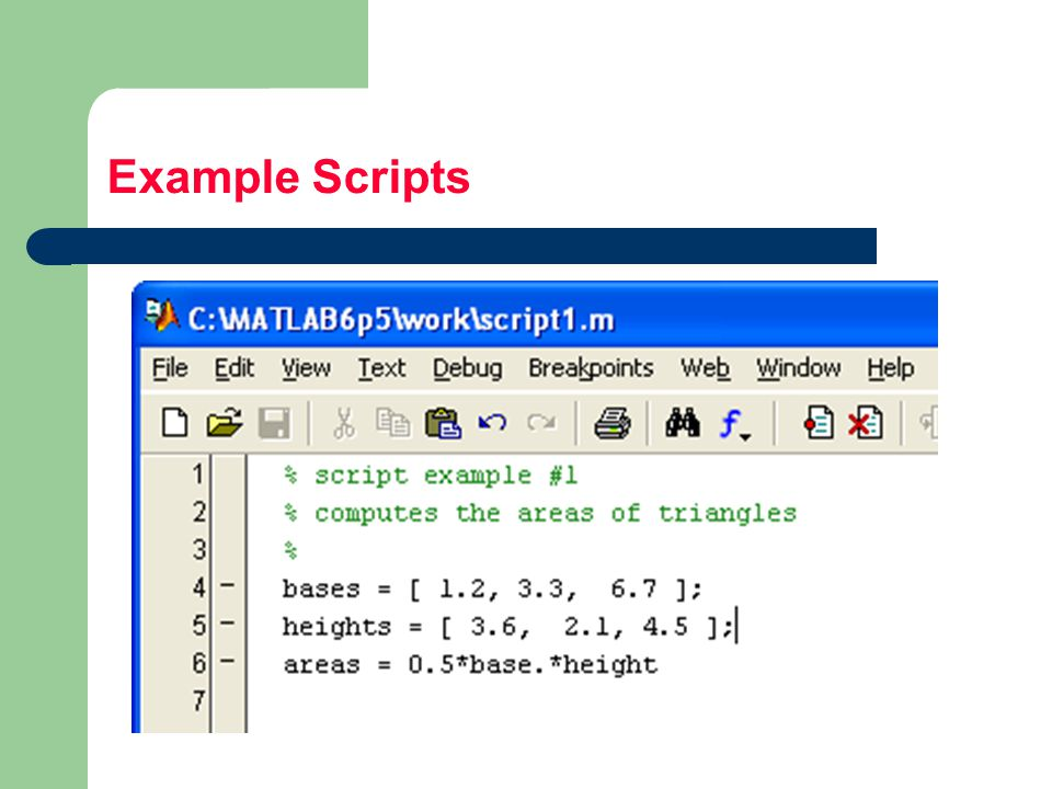 Example Scripts