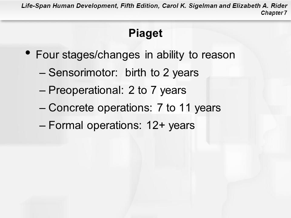 Life-Span Human Development, Fifth Edition, Carol K.