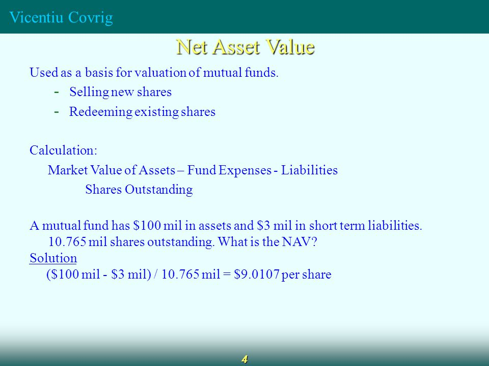 the valuation of mutual fund A value fund is a fund that follows a value investing strategy and seeks to invest in stocks that are deemed to be undervalued in price based on fundamental characteristics.