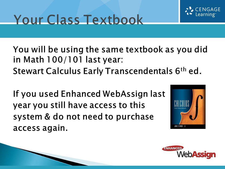 MATH 209 – Engineering Calculus September  Textbook Tax