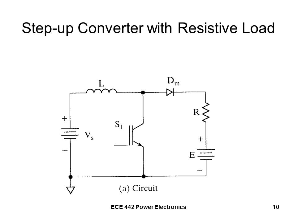 ECE 442 Power Electronics10 Step-up Converter with Resistive Load