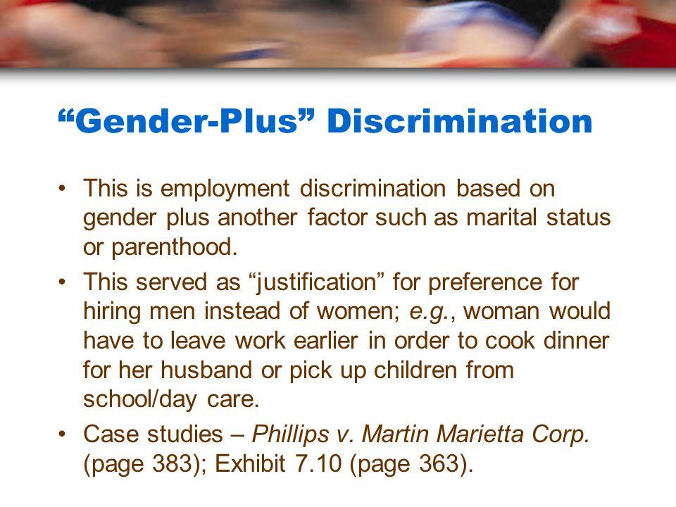 Sex discrimination case studies