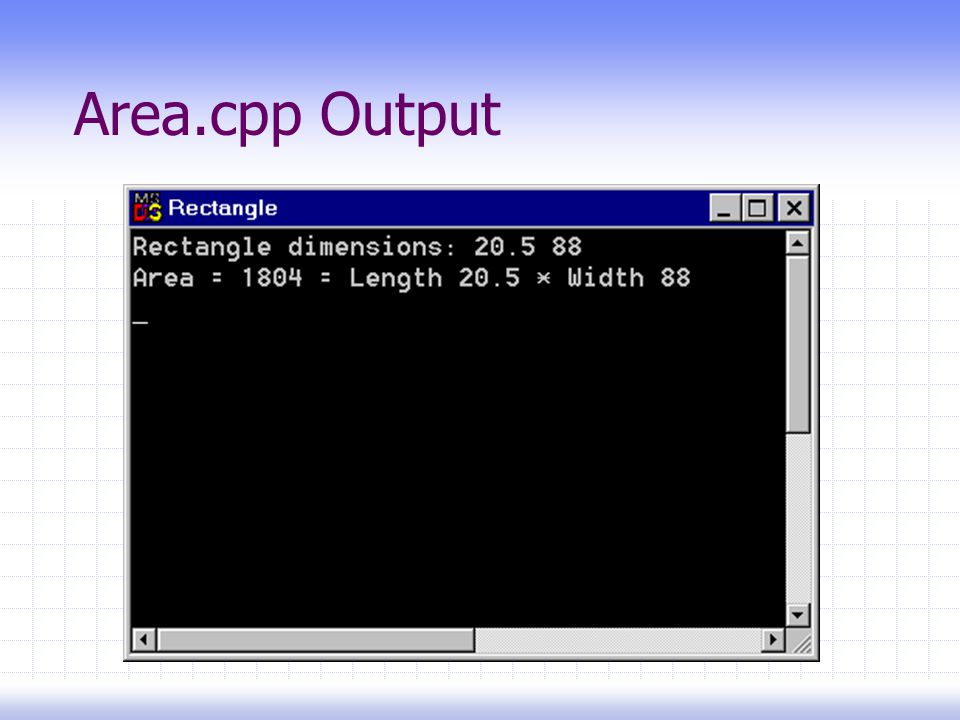 Area.cpp Output