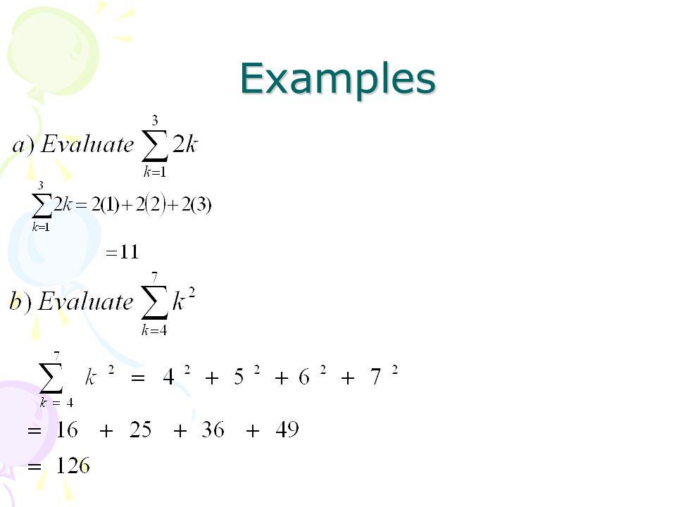Summation Notation Terminology K Index Of Summation 1 Lower Limit