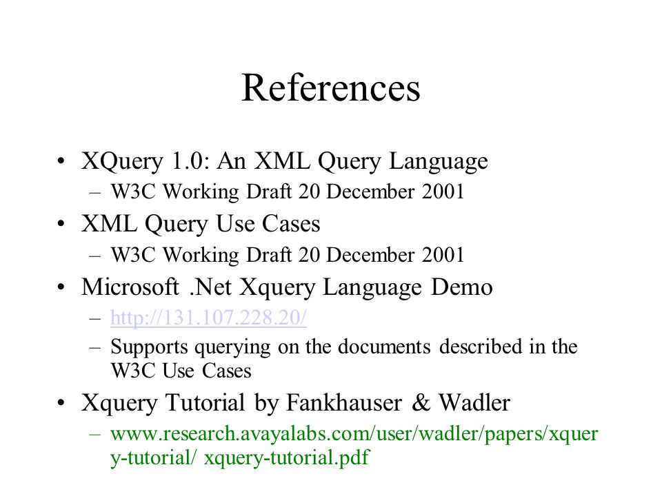 Xquery Tutorial Pdf