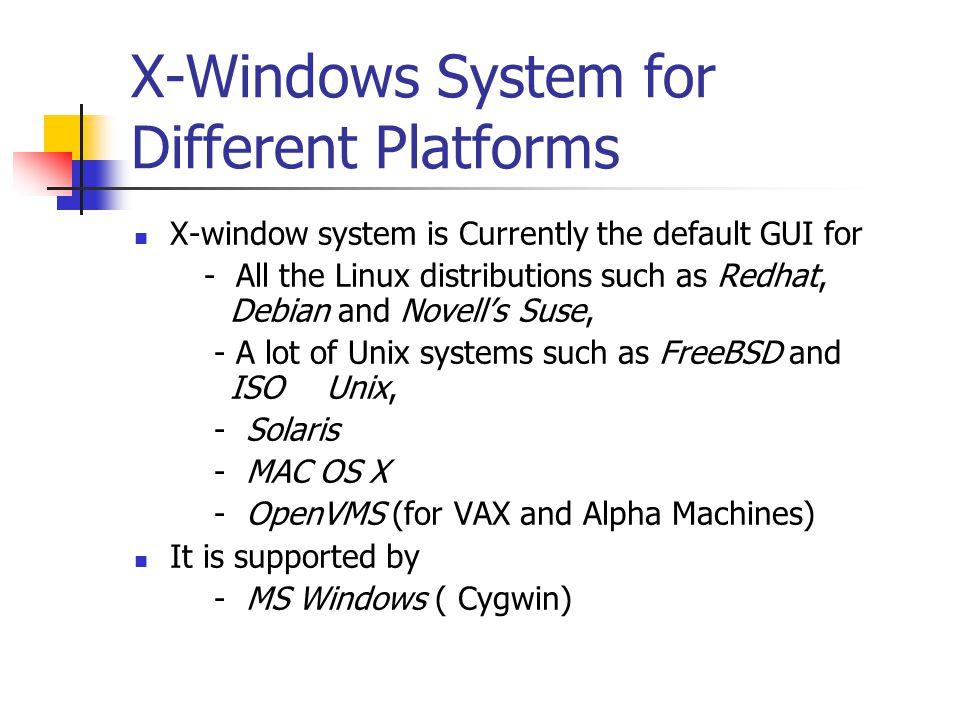 Linux xwindows client for windows