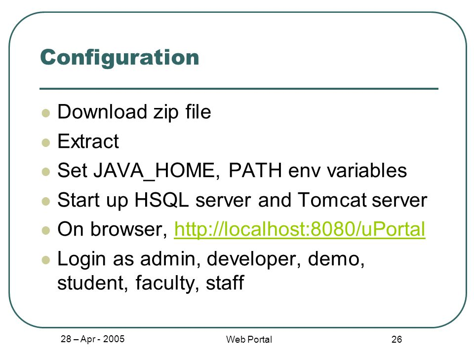 1 Web Portal Project - - Lee, Austin - Narayan, Sujeeth