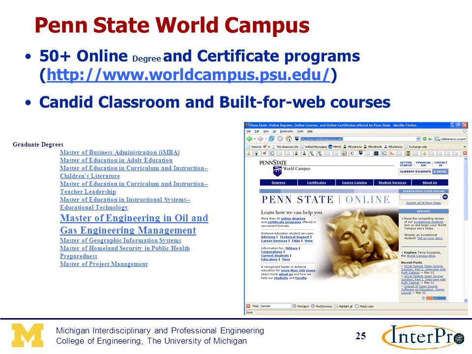 1 Michigan Interdisciplinary And Professional Engineering College Of