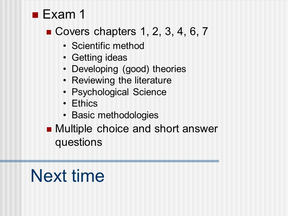 Basic Methods Cont Psych 231 Research Methods In