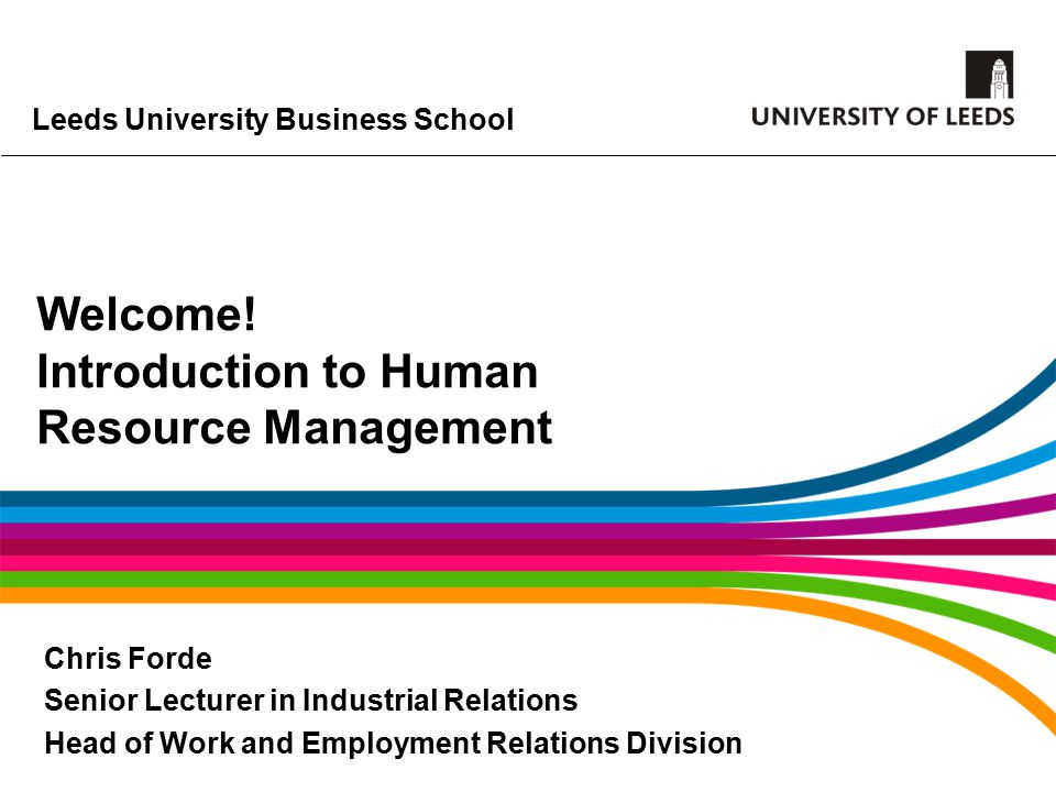 Leeds University Business School Welcome.