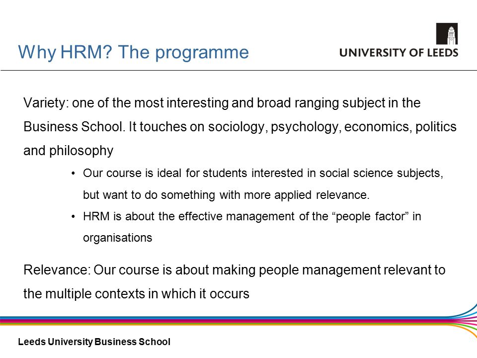 Leeds University Business School Why HRM.