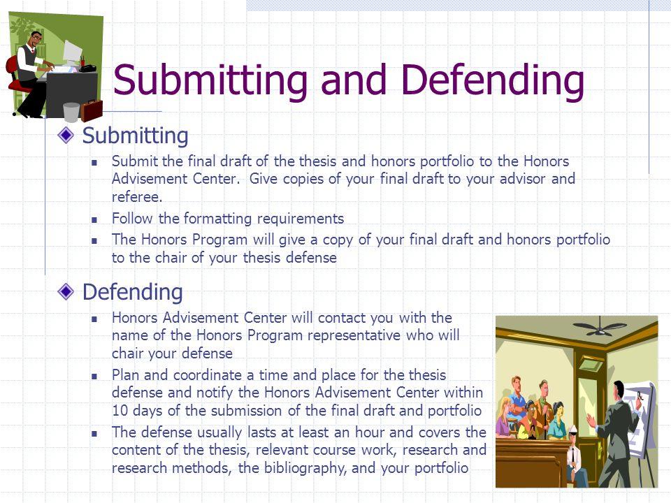 undergraduate thesis defense guidelines