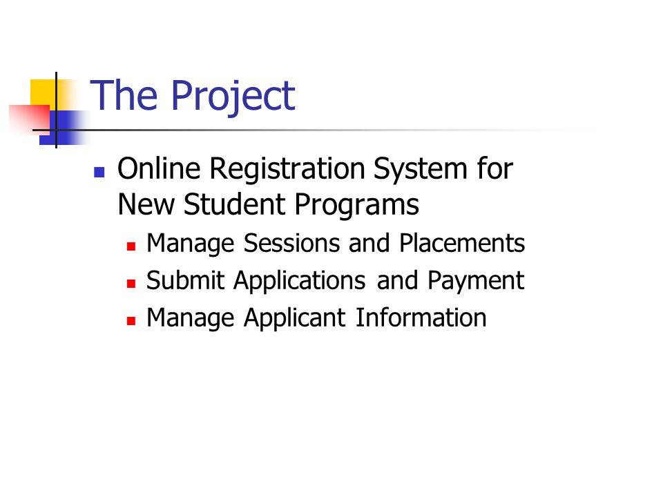 New Student Orientation Registration System Stephen Nakamura