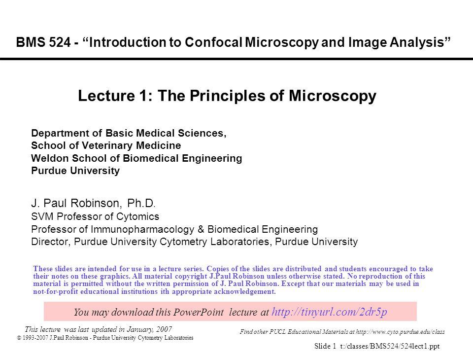 J Paul Robinson - Purdue University Cytometry Laboratories