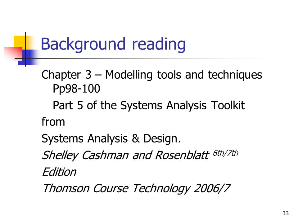 1 Info 1409 Systems Analysis Design Module Lecture 8 Modelling Tools And Techniques Hnd Year 9 De Montfort University Ppt Download