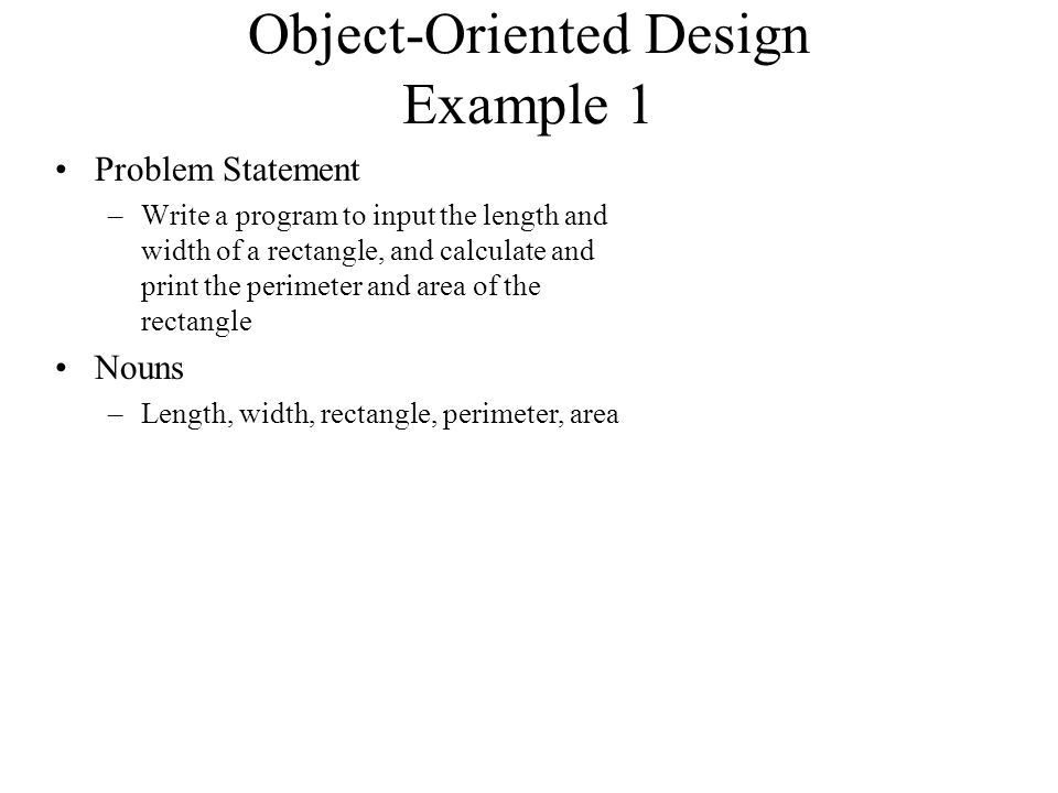 Intro To Object Oriented Oo Design Oo Design Simplified