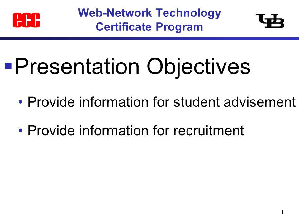1 Web-Network Technology Certificate Program  Presentation ...