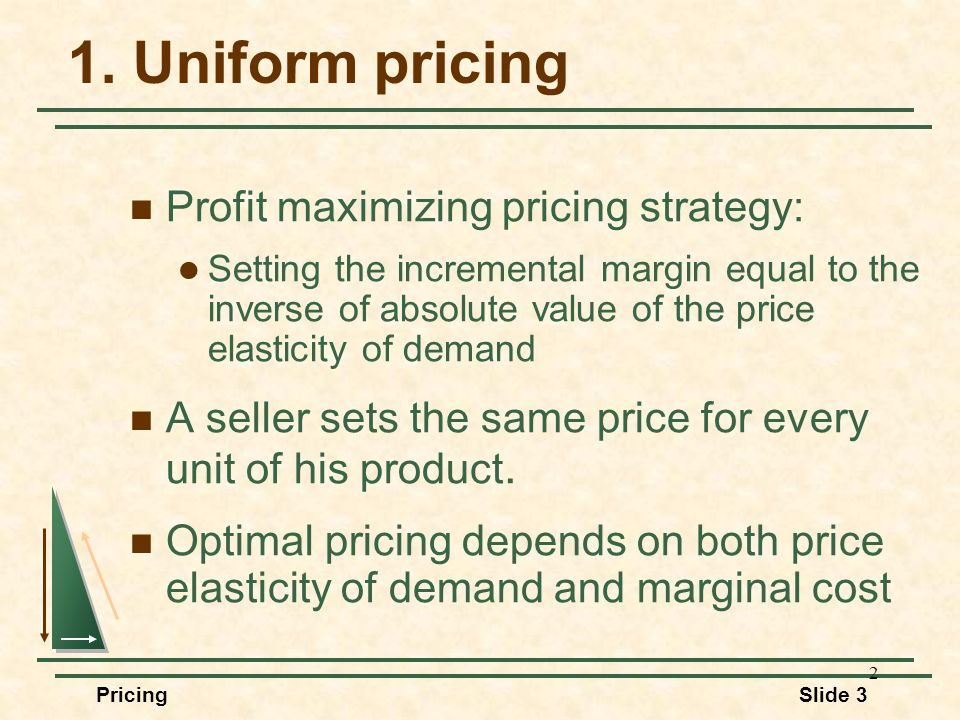 Session 4 Pricing Strategy Managerial Economics Professor