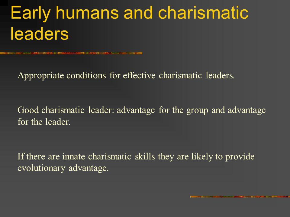 advantages of a charismatic leader