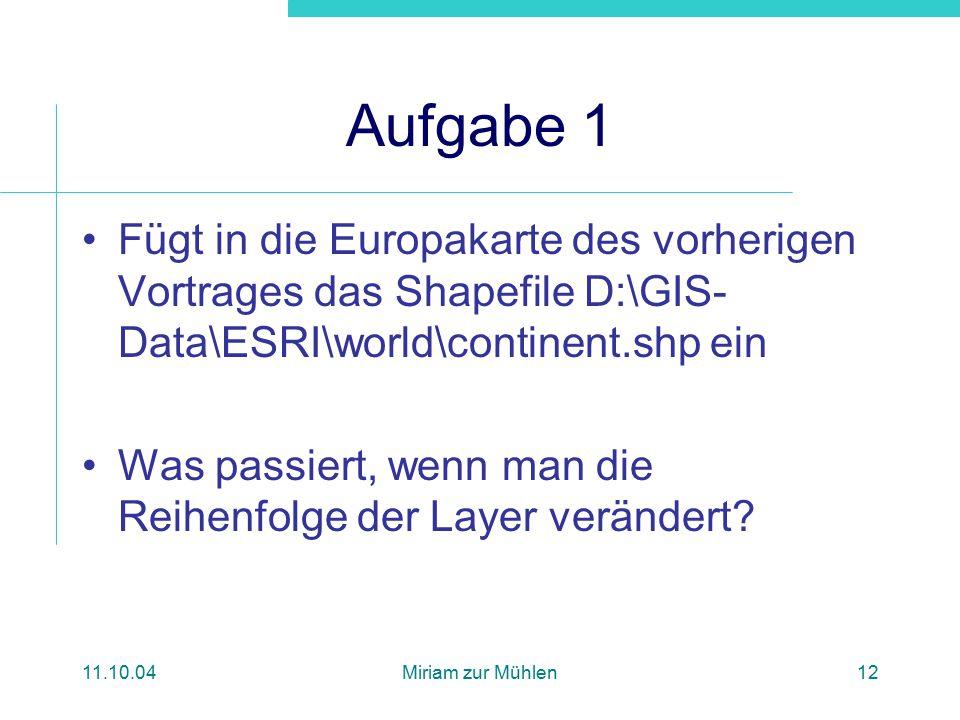 Formate und Modelle Proseminar Geoinformation II WS 04/05 Shapefile