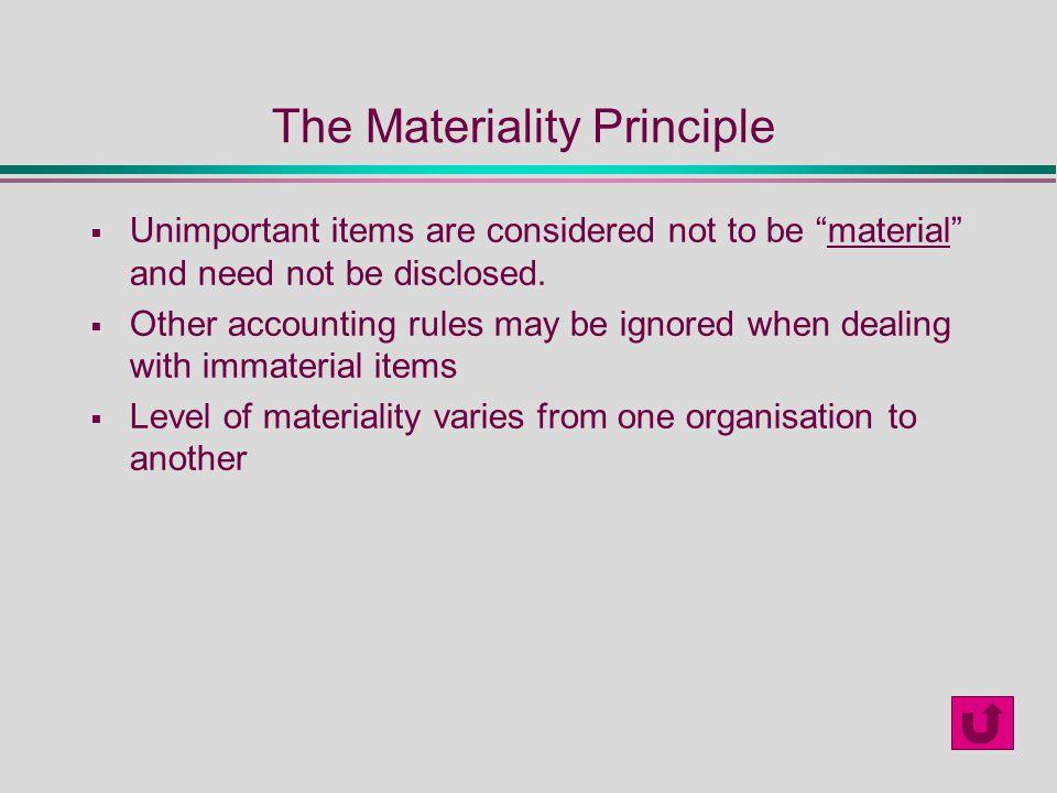 materiality principle