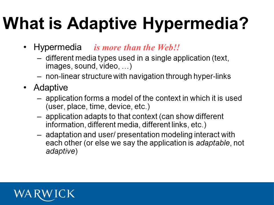 What is Adaptive Hypermedia.