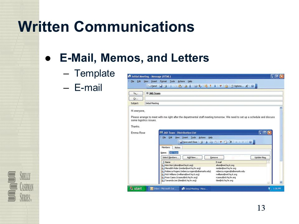 13 Written Communications ● , Memos, and Letters –Template –