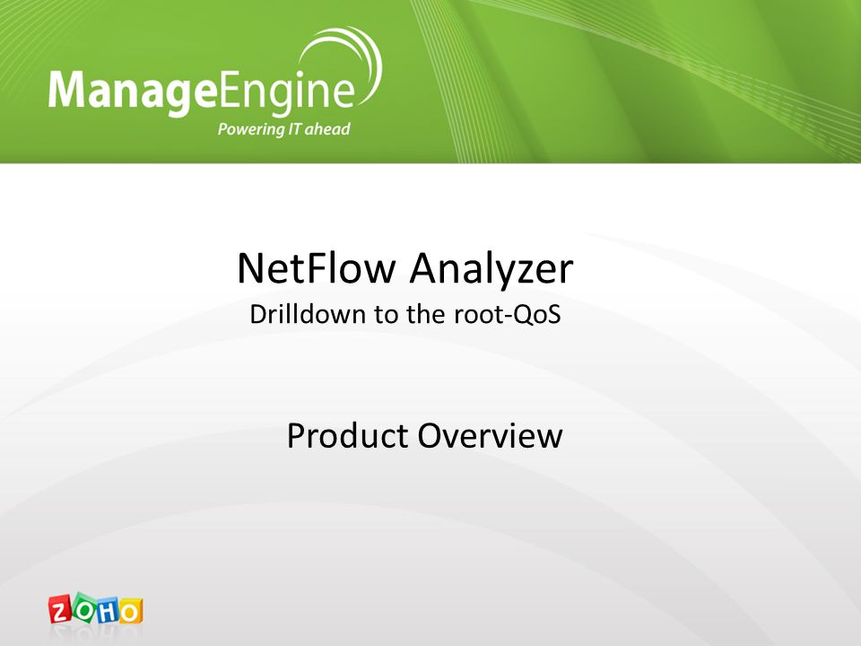 NetFlow Analyzer Drilldown to the root-QoS Product Overview