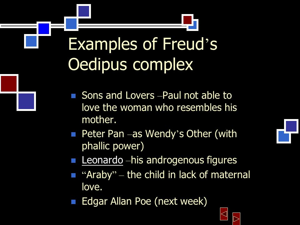 my oedipus complex essays The novel my oedipus complex written by the famous irish short storywriter frank o'conner, in my opinion, is more a spiritual exploration of the problems of youth and growing-up than just a simple story told by a little kid.