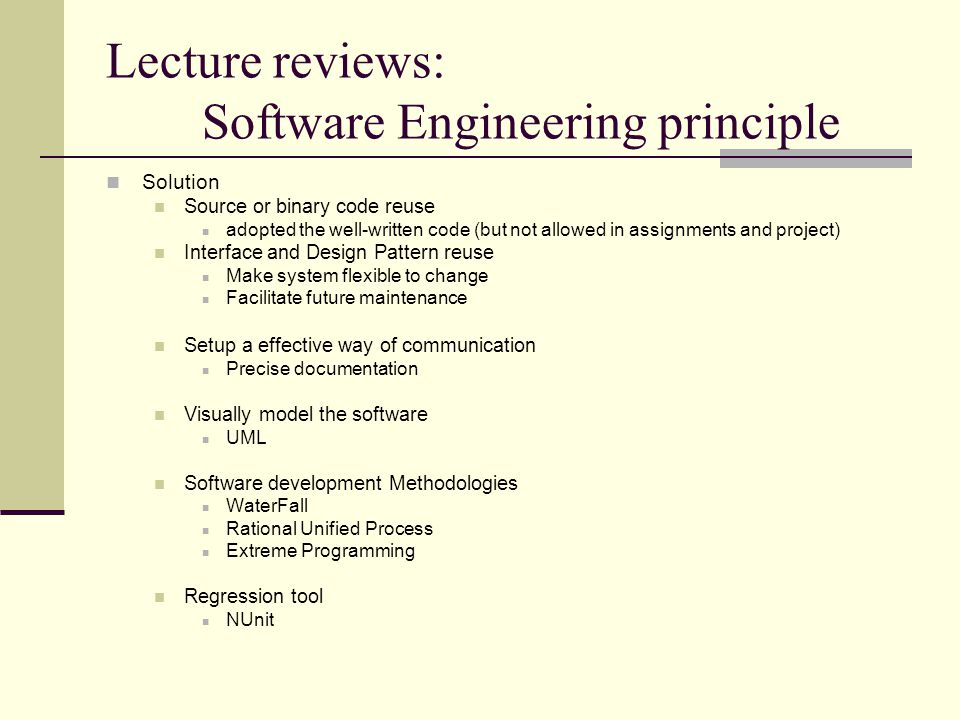 Ieg 3080 Tutorial 1 Wilson Ip Outline Lecture Reviews Some Basics Of Software Engineering Principle Some Basics Of Oop How To Use Visual Studio Net Ppt Download