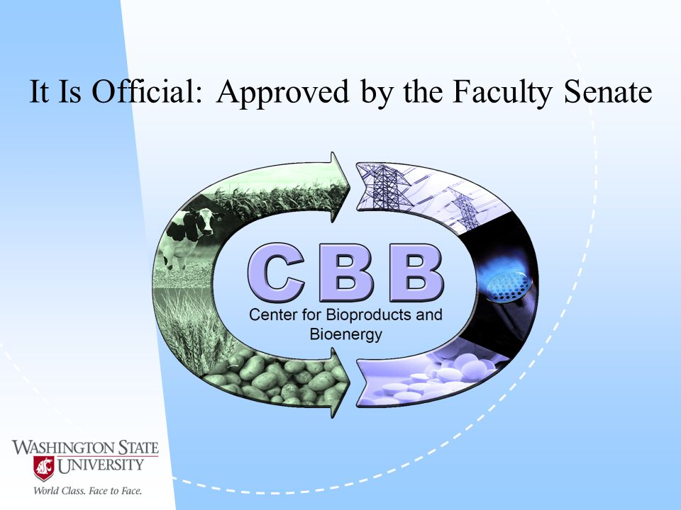 It Is Official: Approved by the Faculty Senate