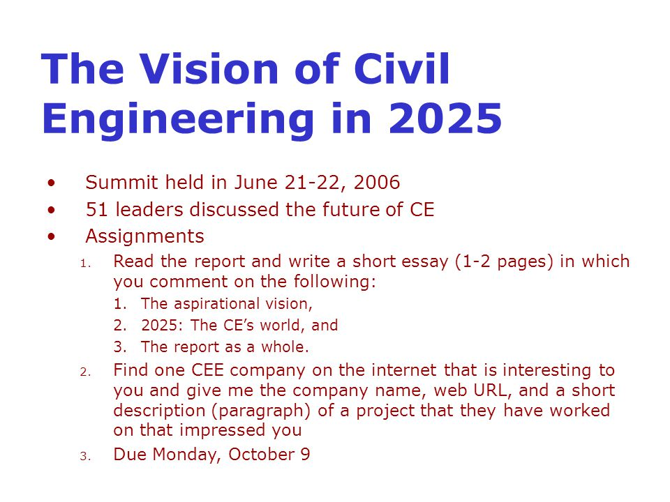 EGGG 167 Introduction Civil & Environmental Engineering  - ppt download