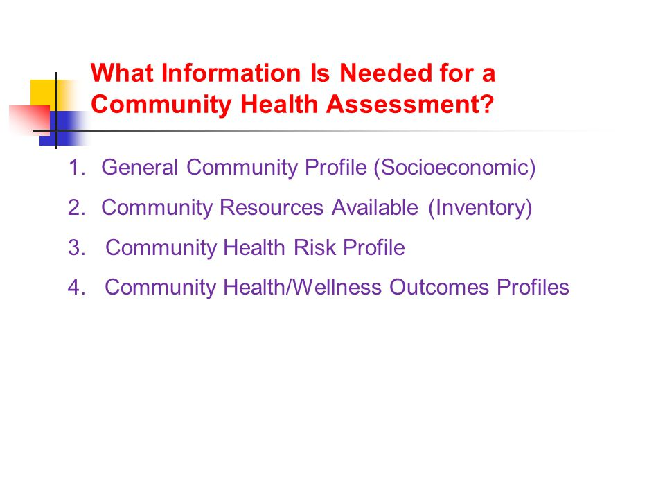 What Information Is Needed for a Community Health Assessment.