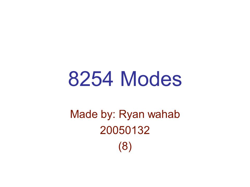 8254 Modes Made by: Ryan wahab (8)