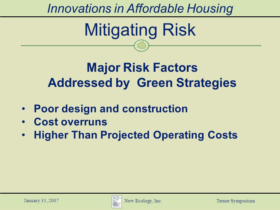 Innovations in affordable housing january 31 2007 new ecology inc 13 innovations ccuart Choice Image