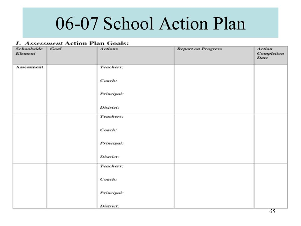64 Next Steps Early Reading Team will take the completed sections of the PET-R Action Planning Tool from the IBR and combine into a draft of a School Action Plan for