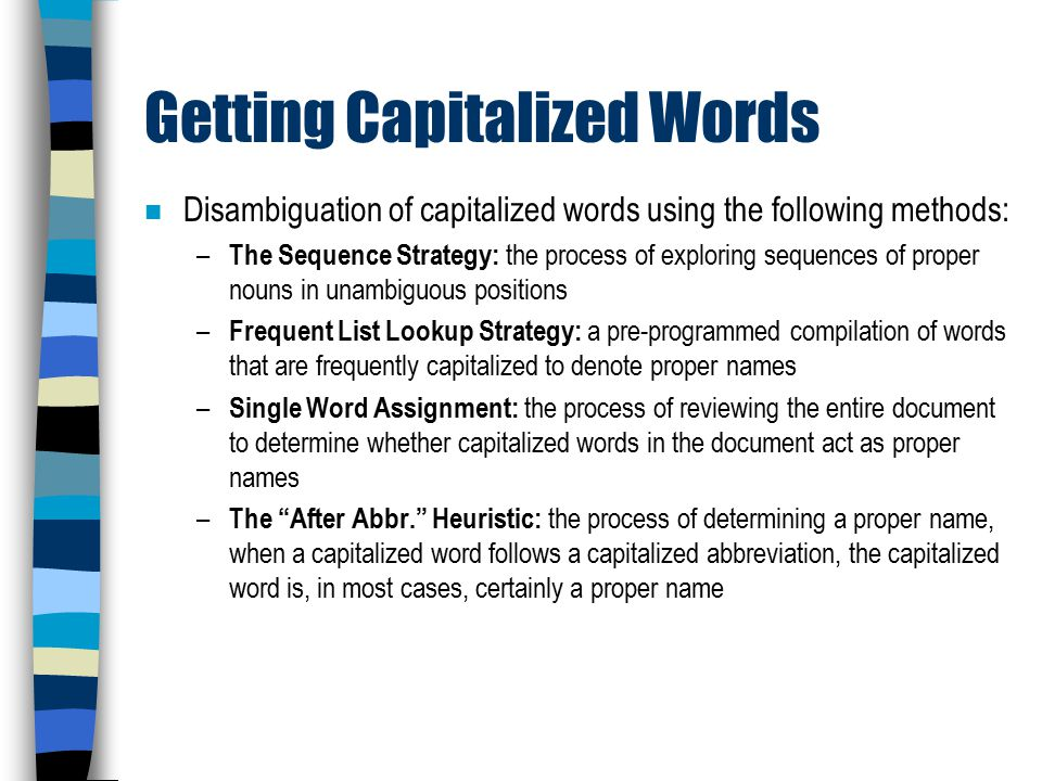 8 Getting Capitalized Words