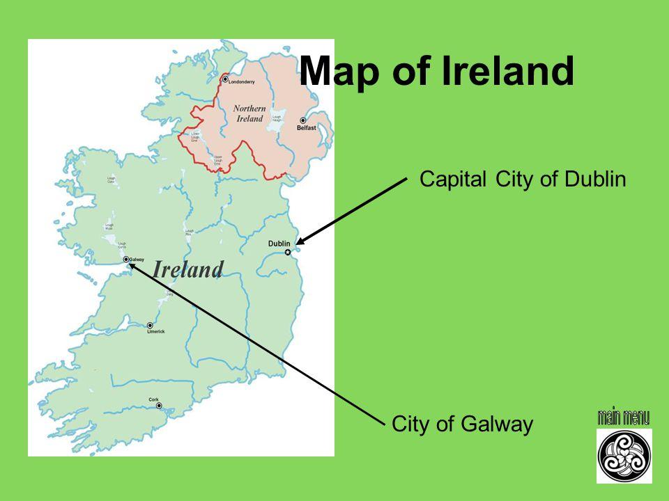 Ireland Ireland Capital City Of Dublin City Of Galway Map Of