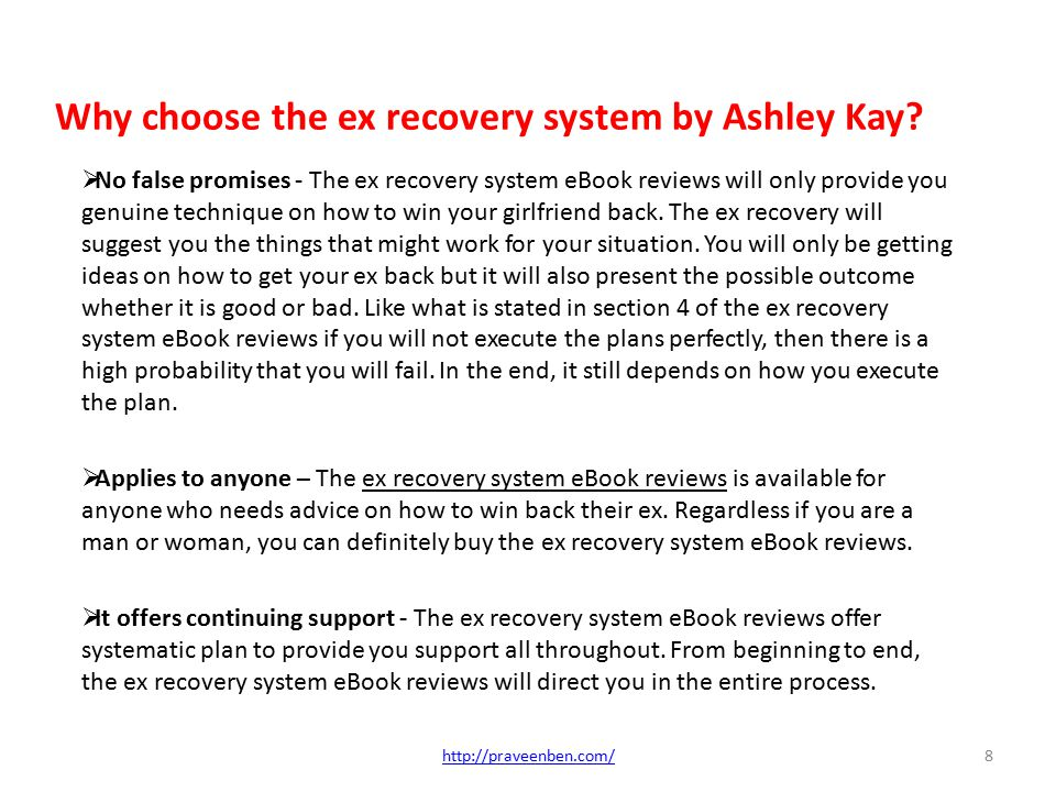 Why Choose The Ex Recovery System By Ashley Kay