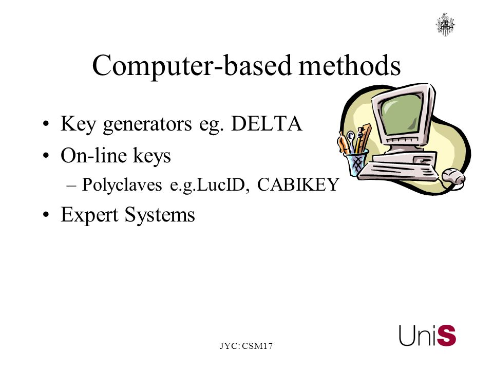 JYC: CSM17 Computer-based methods Key generators eg.